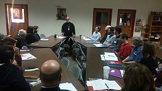 Bp Thomas addresses the Intro to Orthodoxy class, Feb 20, 2016